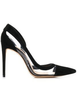 Alexandre Birman pointed toe panelled pumps - Black