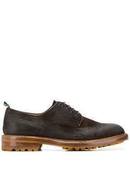 Green George lace-up Derby shoes - Brown