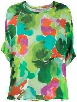 Essentiel Antwerp abstract-print T-Shirt - Green