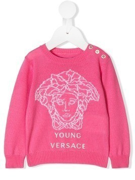 Young Versace Medusa sweater - PINK