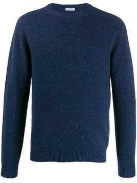 Malo crew-neck knit sweater - Blue