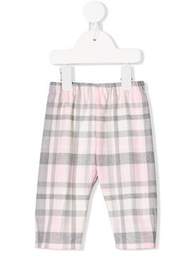Il Gufo checked trousers - Pink & Purple