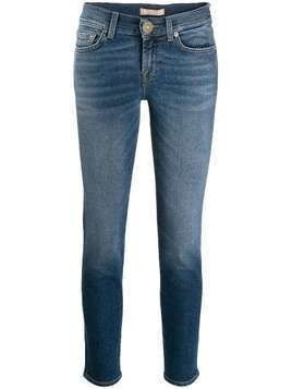 7 For All Mankind stonewashed skinny jeans - Blue