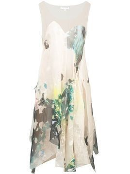 Kamperett Tanis sheer asymmetric dress - White