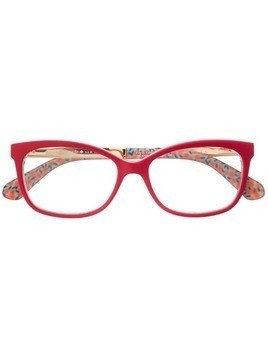 Kate Spade rectangular glasses - Red