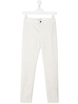 Dondup Kids straight leg jeans - White