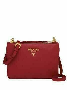 Prada calf leather shoulder bag - Red