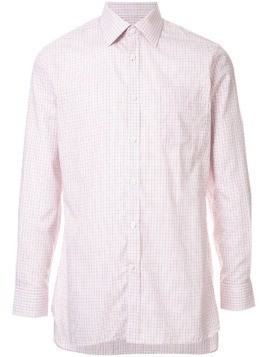 Gieves & Hawkes checked button down shirt - PINK