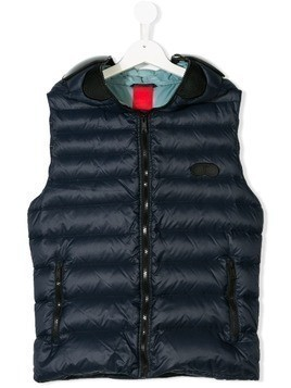 Ai Riders On The Storm Kids TEEN visor padded gilet - Blue