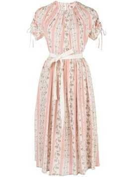 Brock Collection striped floral print Pietrina dress - PINK