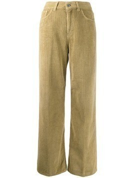 Haikure corduroy flared trousers - NEUTRALS