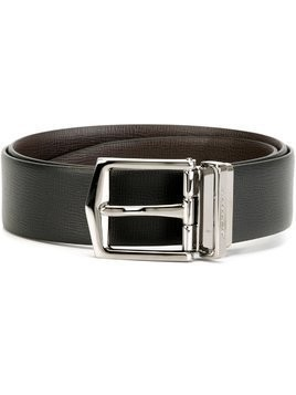 Burberry Reversible London Leather Belt - Black