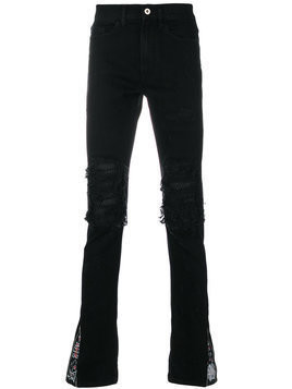 Mjb distressed slim-fit jeans - Black