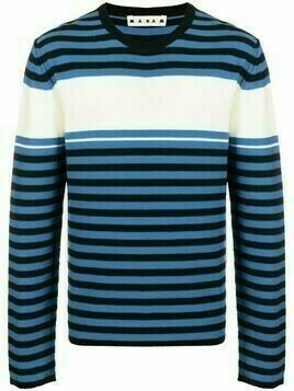 Marni crew neck striped sweatshirt - Blue