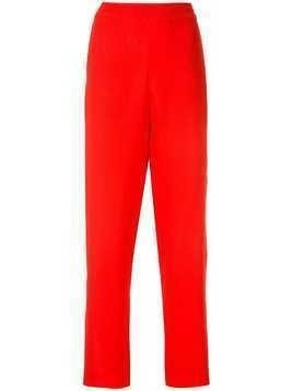 Layeur straight-leg trousers - Red