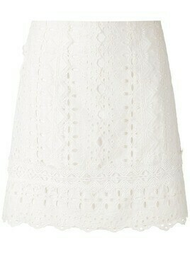 Martha Medeiros Paloma mini skirt - White