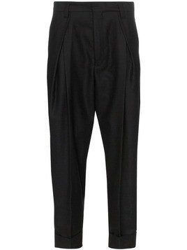 Ann Demeulemeester tapered-leg turn-up trousers - Black