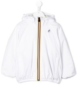 K Way Kids Claudette logo raincoat - White