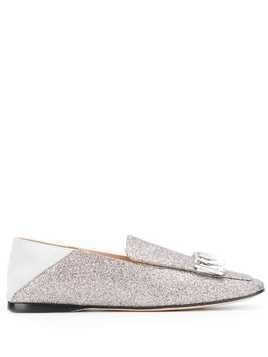 Sergio Rossi crystal embellished loafers - SILVER