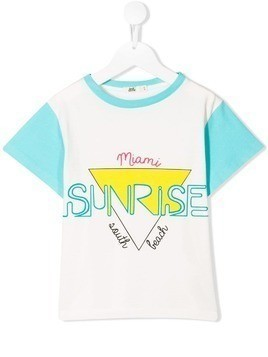 Bandy Button Sunrise T-shirt - White