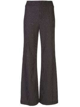Alice+Olivia Dylan high-waist dotted trousers - Black