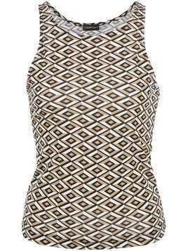 CALLIPYGIAN diamond-pattern tank top - Brown