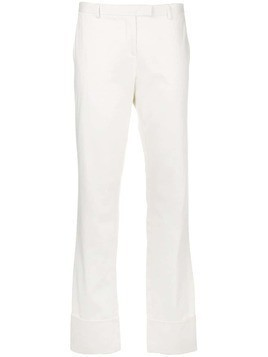 Romeo Gigli Pre-Owned mid rise straight trousers - White