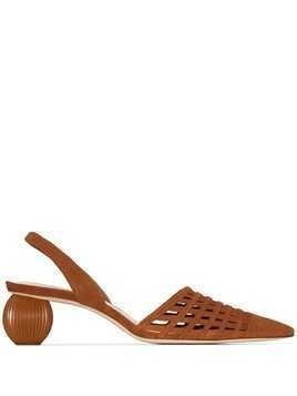 Cult Gaia Keri 50mm woven-style mules - Brown