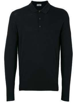 John Smedley button collar jumper - Black