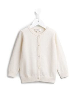 Cashmirino V-neck cardigan - White