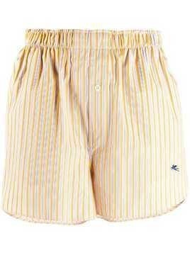 Etro boxer-style striped shorts - Yellow