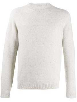 Malo crew-neck knit sweater - White