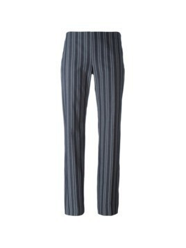 Romeo Gigli Pre-Owned striped trousers - Grey