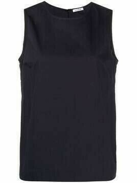 P.A.R.O.S.H. cotton sleeveless blouse - Blue