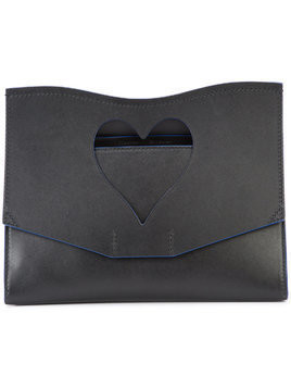 Proenza Schouler Medium Cut Out Curl Clutch - Black