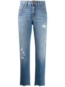 Don't Cry distressed straight jeans - Blue