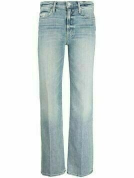 MOTHER stonewashed straight-leg jeans - Blue