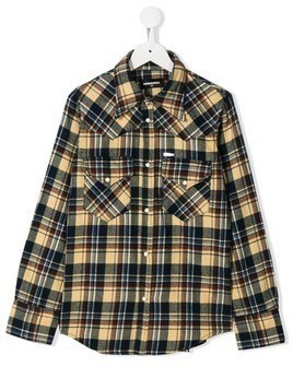 Dsquared2 Kids TEEN checked shirt - NEUTRALS