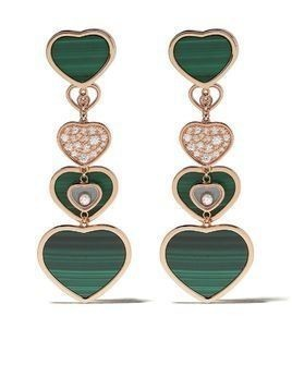 Chopard 18kt rose gold diamond Happy Hearts earrings