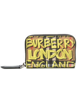 Burberry logo zipped wallet - Multicolour