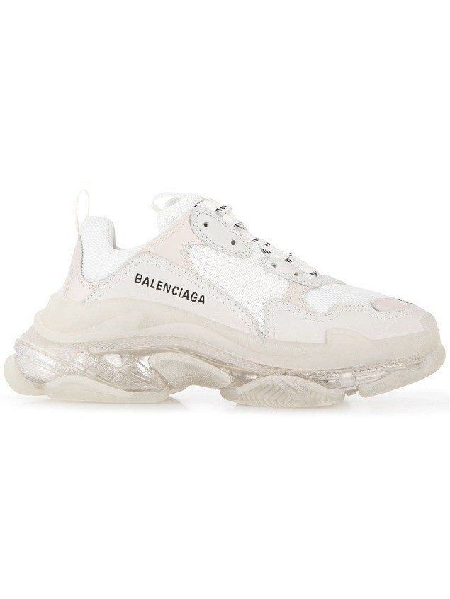 Balenciaga Triple S clear sole sneakers - White