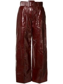Drome patent leather trousers - Red