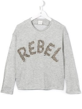 Diesel Kids rebel embellished top - Grey