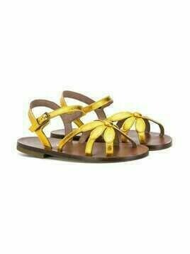 Pèpè flower open toe sandals - Yellow