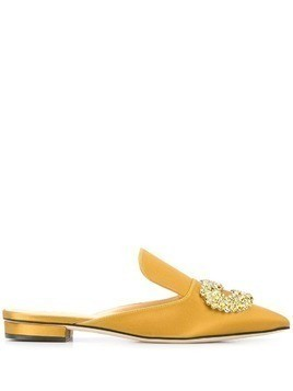 Giannico Daphne flat mules - Yellow