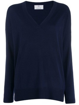 Allude v-neck jumper - Blue