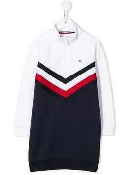 Tommy Hilfiger Junior high neck sweatshirt dress - White
