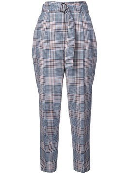 Akris Punto checked high waisted trousers - Blue