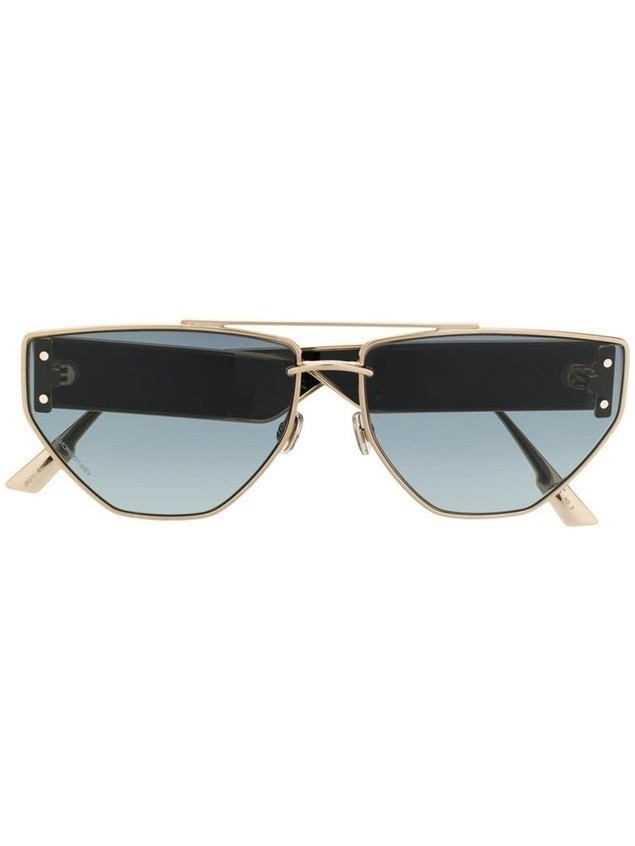 Dior Eyewear gold and black sunglasses
