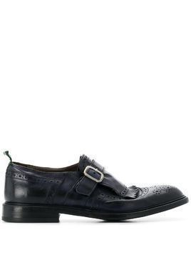 Green George buckled oxford shoes - Blue